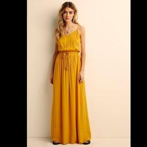 Mustard Drawstring Dress Size S